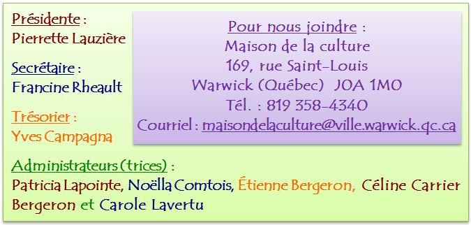 Comité culturel 2015